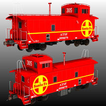 ATSF FREIGHT TRAINBUNDLE for Poser image 2
