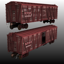 ATSF FREIGHT TRAINBUNDLE for Poser image 3