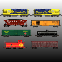 ATSF FREIGHT TRAINBUNDLE for Poser image 8