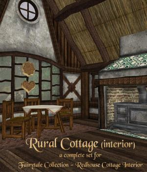 Rural Cottage Interior by RAGraphicDesign