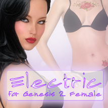 Electric for Genesis 2 Female 3D Figure Assets 3D Models -dragonfly3d-