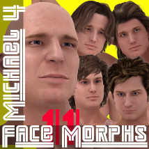 Farconville's Face Morphs 11 for Michael 4 3D Figure Essentials farconville