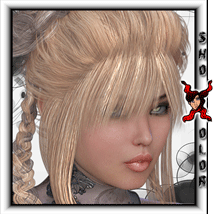 ShoXoloR for Merilia Hair 3D Figure Essentials ShoxDesign