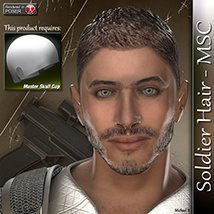 Soldier Hair - MSC 3D Figure Assets 3Dream