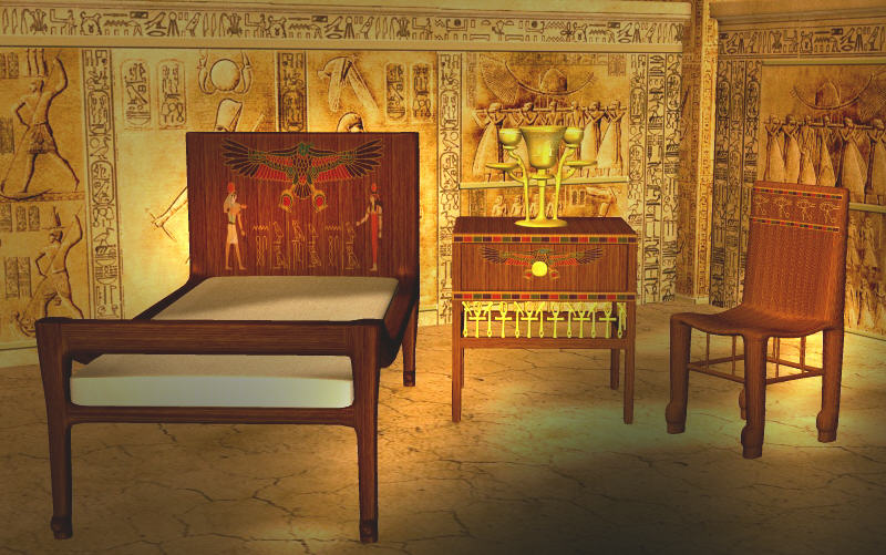 Castle Dev Egyptian Bedroom Set