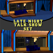 Lat Night Talk Show Set 3D Models DexPac