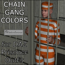Chain Gang Colors for the Genesis Prisoner Outfit 3D Figure Essentials rolow