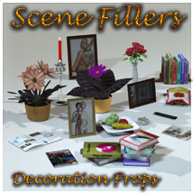 SceneFillers: DecoProps 3D Models 3D Figure Essentials 3-d-c