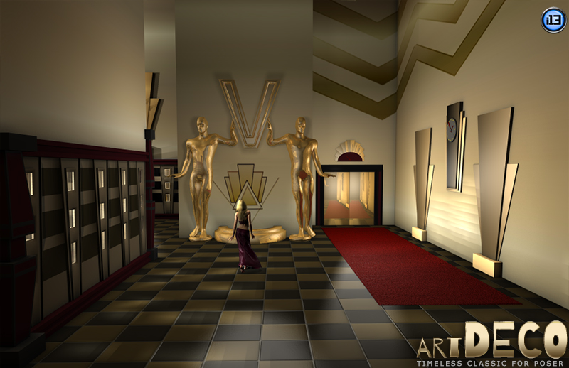 I13 Art Deco 3D Models Ironman13
