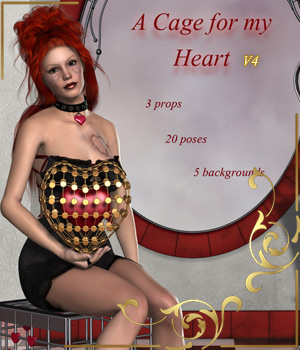 A Cage for my Heart-for V4 2D Graphics 3D Figure Assets 3D Models legolie