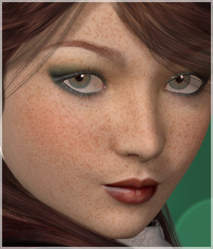 A3D Cariad Freckled Beauty Characters Poses/Expressions Morphs/Deformers Themed Materials/Shaders alizea