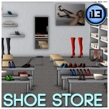 i13 Shoe Store Props/Scenes/Architecture Software Themed Stand Alone Figures ironman13