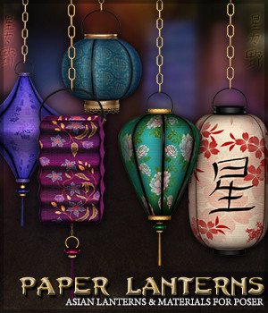 SV's Asian Paper Lanterns 3D Models Sveva
