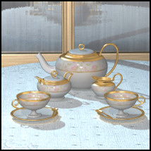 Collectibles: Tea Set Themed Props/Scenes/Architecture Software 3-DArena
