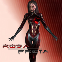 Rosa Preta 3D Figure Essentials shaft73