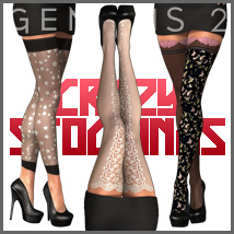Crazy Stockings for SuperHose Infinite 3D Figure Essentials 3D Models outoftouch