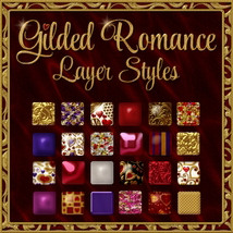 Gilded Romance Layer Styles 2D 3D Models fractalartist01