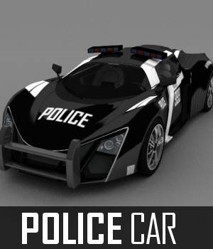Police Car 3D Models TruForm