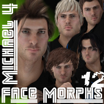 Farconville's Face Morphs 12 for Michael 4 3D Figure Essentials farconville