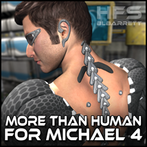 HFS - MoreThanHuman for Michael 4 3D Models 3D Figure Essentials blbarrett