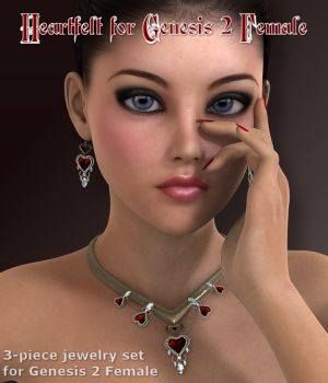 Heartfelt for Genesis 2 Female 3D Figure Assets 3D Models WildDesigns