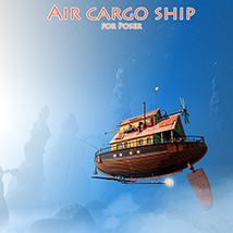 Air cargo ship Themed Transportation 1971s