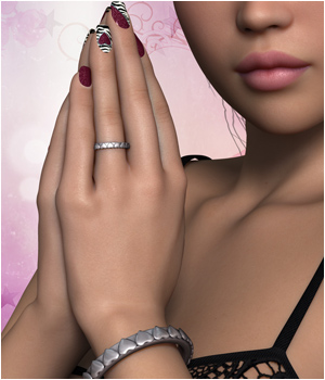 P3D Nails, The Valentine Collection 3D Figure Essentials P3Design
