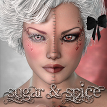 MDD Sugar&Spice for V4.2 3D Figure Essentials Maddelirium