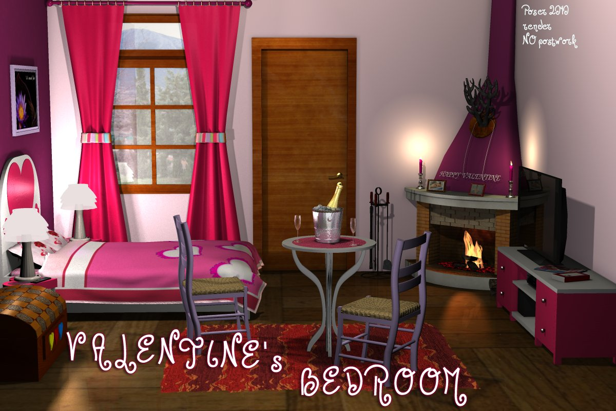 Valentine's Bedroom by greenpots