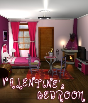 Valentine's Bedroom 3D Models greenpots