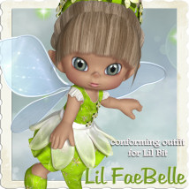 Lil FaeBelle Clothing Stand Alone Figures Hair Themed JudibugDesigns