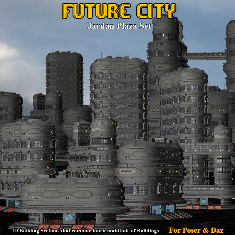 Future City Jardan Plaza by Simon-3D