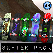 i13 Skater Pack 3D Models 3D Figure Essentials ironman13