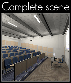College, Lecture room 3D Models 2nd_World