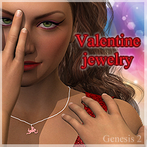 Valentine jewelry for Genesis2 3D Figure Essentials DigitalDreamsDS