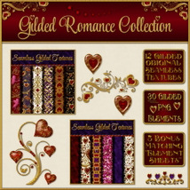 Gilded Romance Collection w/ Free Bonus 2D 3D Models fractalartist01