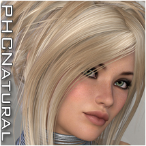 PHCNatural : Ember Themed Hair P3D-Art