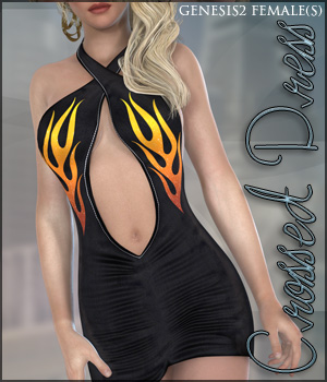 Crossed Dress G2F 3D Figure Assets lilflame