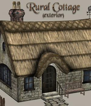 Rural Cottage Exterior Props/Scenes/Architecture Themed RAGraphicDesign