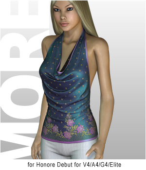 MORE Textures & Styles for Honore Debut 3D Figure Assets 3D Models motif