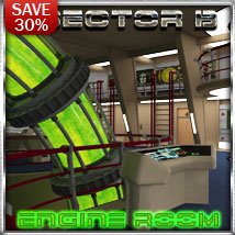 Ship Elements B3: Engine Room Props/Scenes/Architecture Themed Software 3-d-c