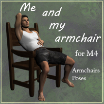Me and my armchair for M4 Poses/Expressions Props/Scenes/Architecture Leije