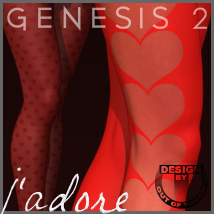 J'adore SuperHose Infinite for Genesis 2 Female(s) Themed Clothing outoftouch