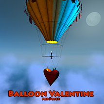 Balloon Valentine Transportation Themed 1971s