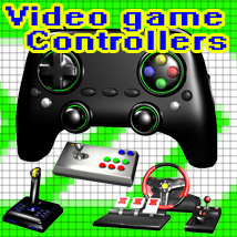 Video Game Controllers Gaming Themed Props/Scenes/Architecture apcgraficos