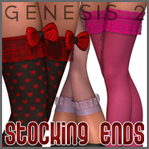 SuperHose Infinite Stocking Ends for Genesis 2 Female(s) 3D Figure Essentials 3D Models outoftouch