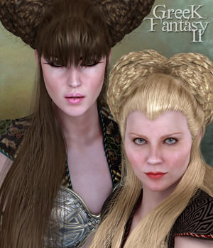 SAV Greek Fantasy Hair II 3D Figure Essentials 3D Models StudioArtVartanian
