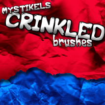 Crinkled Brushes 2D Graphics mystikel