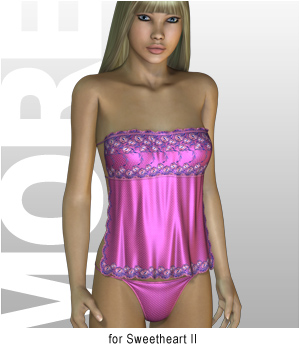 MORE Textures & Styles for Sweetheart II 3D Figure Essentials 3D Models motif
