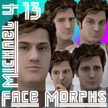 Farconville's Face Morphs 13 for Michael 4 3D Figure Essentials farconville